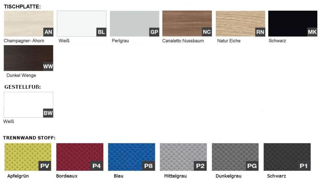Trennwand-Farben-Schreibtisch-Dekor