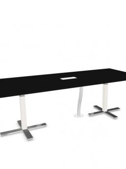 Konferenztisch-elektrisch-hoehenverstellbar-Winglet-schwarz-Gestellfuesse-chrom