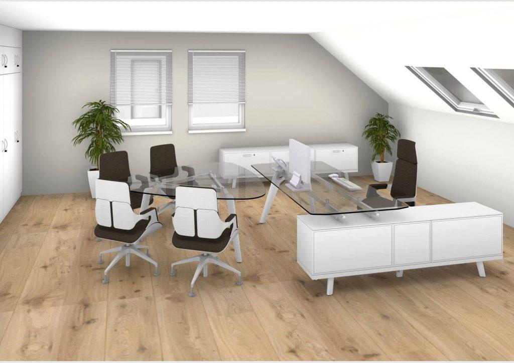 Raumplanung-Chefzimmer