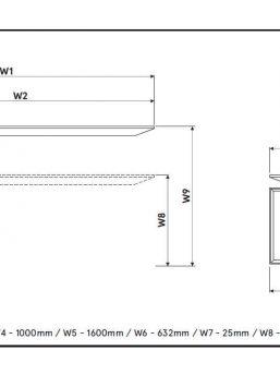 Schreibtisch-Gravity-Abmessungen