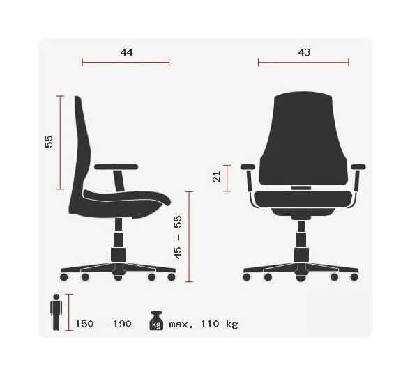 Design-Drehstuhl-Calvi-gruen-Abmessungen