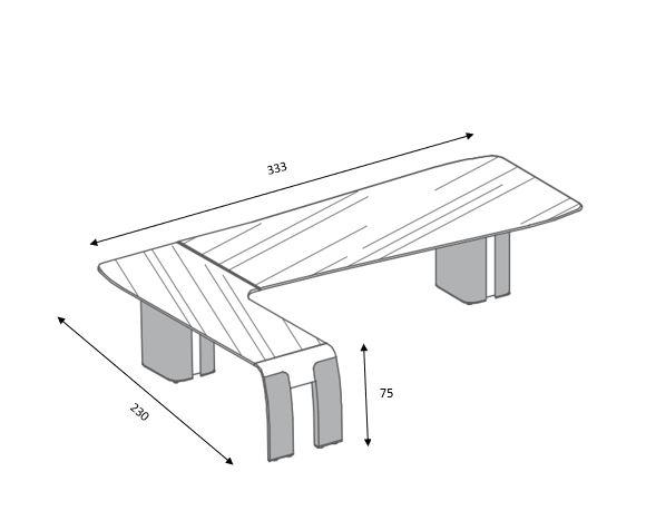 Alfa-Schreibtisch-Abmessung