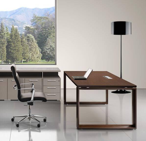 Schreibtisch-Arche-Echtholzfurnier-Wenge