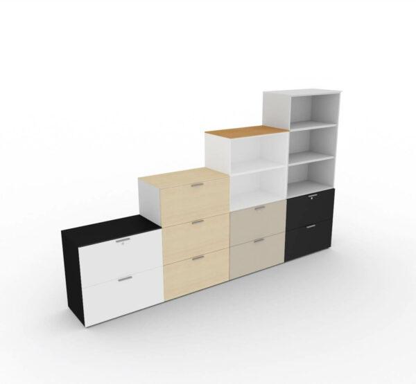 Bueroschraenke-mit-Haengeregistraturschubladen-verschiedene-Dekore