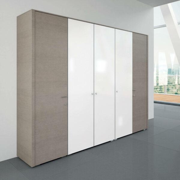 Schrankkonfiguration-Metar-Eiche-grau-Glas-weiss