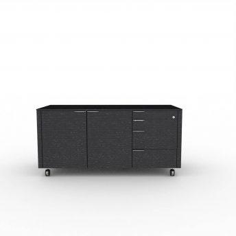 Rollcontainer-Metar-Ausfuehrung A-Eiche-schwarz