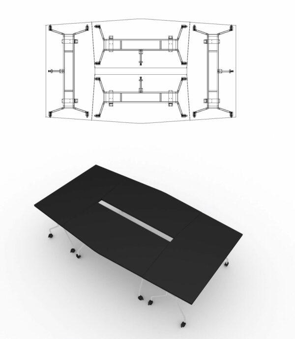Konferenztisch-Klapptische-PFT-4xPFT02