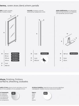 Glastrennwand-Kubick-Abmessungen