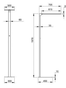 LED-Stehleuchte-Abmessungen