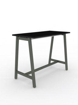 Hochtisch-Tischplatte schwarz-Gestell anthrazit
