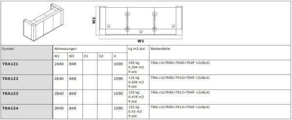 Empfangstresen-Vivo-TRA121-124-Abmessungen