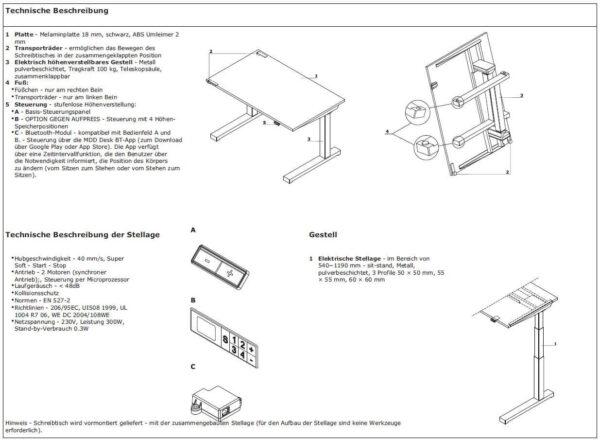 Schreibtisch-elektrisch-hoehenverstellbar-compact-drive_Technische-Beschreibung