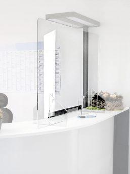 Thekenaufsatz-Cleanup-Schutzwand