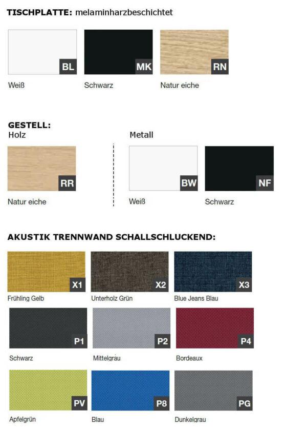 Farben-Doppelschreibtisch-Polare-Tischplatte-mit-Paneelen