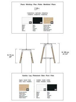 Farben-Schreibtisch-mit-Holzbeinen-Polare