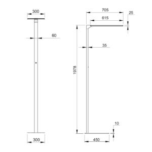 Buero-Stehlampe-weiss-Abmessungen