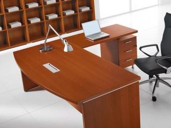 Winkel- Schreibtisch STATUS mit Standcontainer