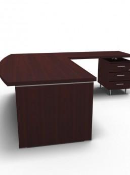Schreibtisch Status mit Standcontainer 2