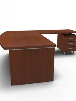 Schreibtisch Status mit Standcontainer 3