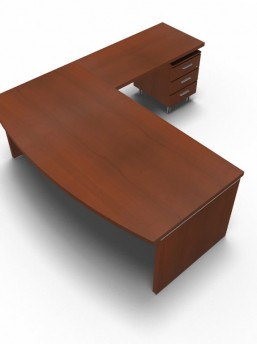 Schreibtisch Status mit Standcontainer 4
