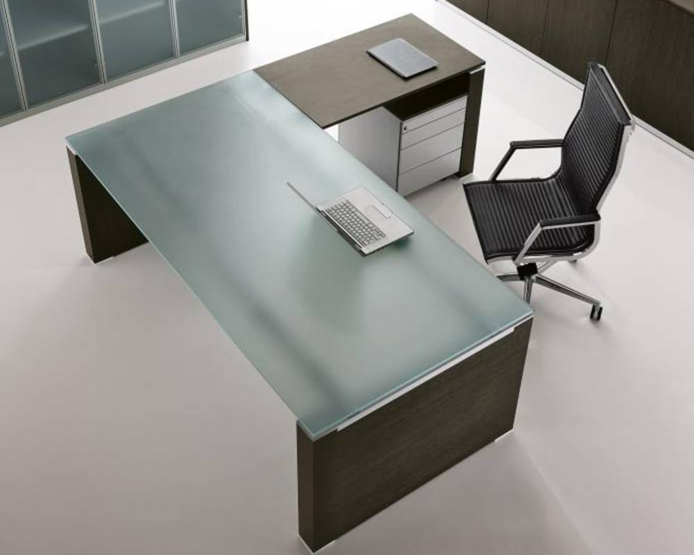 Glas- Schreibtisch JET mit Anbautisch | Klassiker Direkt ...
