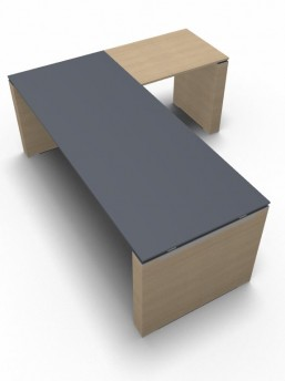Schreibtisch mit Anbautisch 2