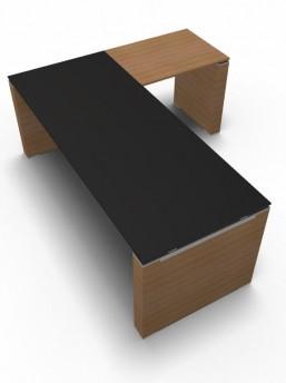 Schreibtisch mit Anbautisch 3