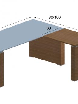 Schreibtisch mit Anbautisch 4