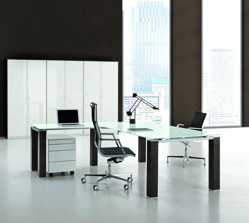 Schreibtisch Mit Anbautisch Jet Glasplatte Buromobel