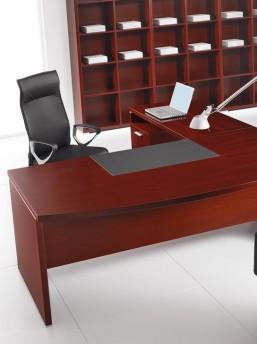 Schreibtisch mit Anbautisch